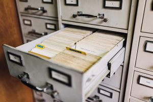 Example of a full filing cabinet