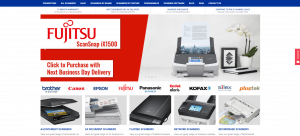 A screenshot of the homepage of The Scanner Shop website
