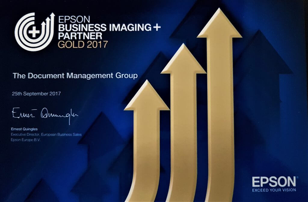 The Document Management Group given GOLD Partner Status by Epson