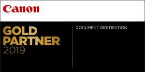 Canon Gold Partner 2019 Certificate